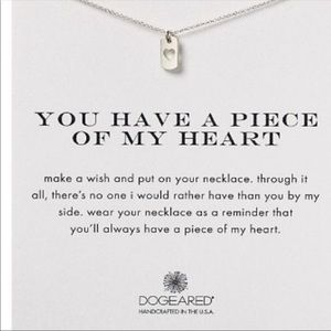 DOGEARD YOU HAVE A PIECE OF MY HEART NECKLACE